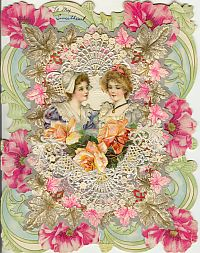 Image for VALENTINE DIE-CUT GREETING CARD; Circa 1895