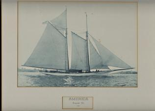 "Image for SCHOONER AMERICA; 8 x 10"" Framed Photogravure"