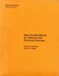 Image for NOVA SCOTIAN BLACKS: an historical and structural overview,