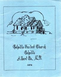 Image for COLPITTS UNITED CHURCH: Colpitts, Albert Co., N.B. 1974.