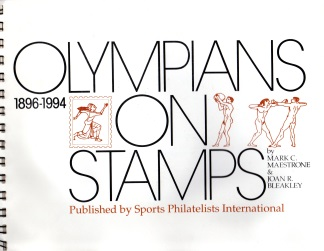 Image for OLYMPIANS ON STAMPS. 1896-1994.