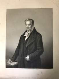 Image for Humboldt, Alexander von; The Great Naturalist; engraving by D. J. Pound, 1859, after C. Begas, 1840