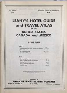 Image for Leahy's hotel guide and travel atlas of the United States, Canada and Mexico