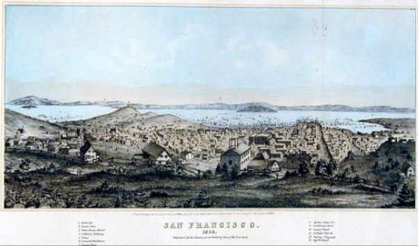 Image for SAN FRANCISCO, 1852 , Colored Lithograph