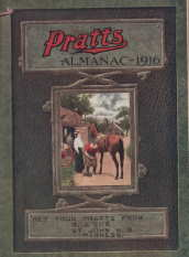 Image for Pratt's almanac and handbook of general information, 1916 [containing vital information for the use of farmers and their wives, horse and stock owners, dairymen and poultry keepers; distributed by R J Cox, St John NB