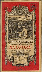 Image for BEDFORD; Ordinance Survey Contoured Road Map of Popular Edition One Inch to One Mile