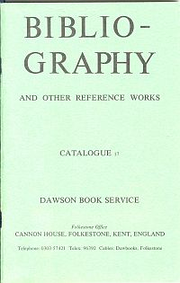 Image for BIBLIOGRAPHY AND OTHER REFERENCE WORKS; 15 Catalogues 1979-1995