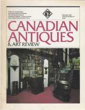 Image for CANADIAN ANTIQUES & ART REVIEW; Nov 1980,Vol.2 No.13
