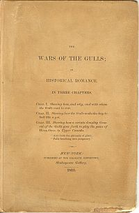Image for THE WARS OF THE GULLS; An Historical Romance In Three Chapters...