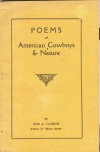 Image for POEMS OF THE AMERICAN COWBOYS & NATURE